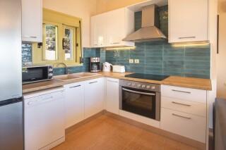 accommodation astra villas kefalonia big kitchen