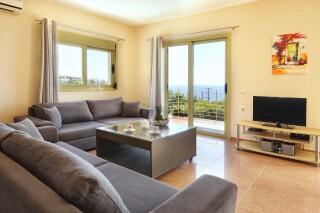 accommodation astra villas kefalonia living room