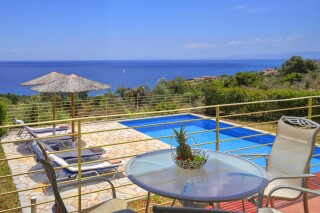 accommodation astra villas kefalonia pool view