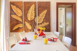accommodation astra villas kefalonia table